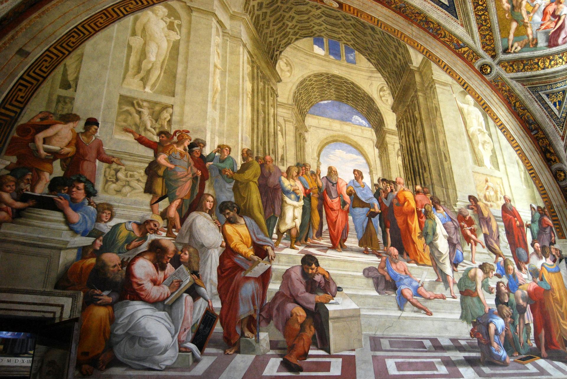 Escuela de Atenas filosofía